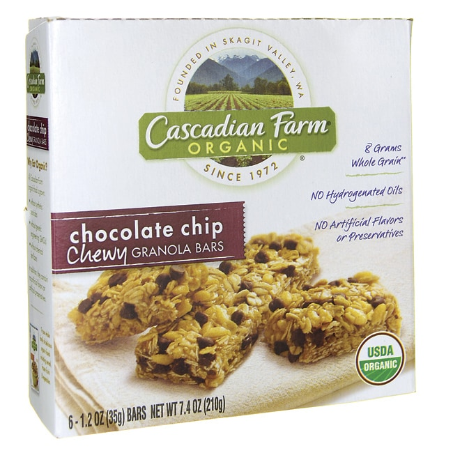 Cascadian FarmChewy Granola Bars - Chocolate Chip