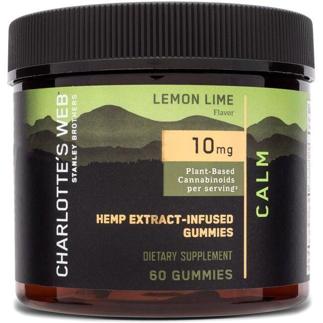 Charlotte's WebCBD Hemp Extract Calm Gummies - Lemon Lime