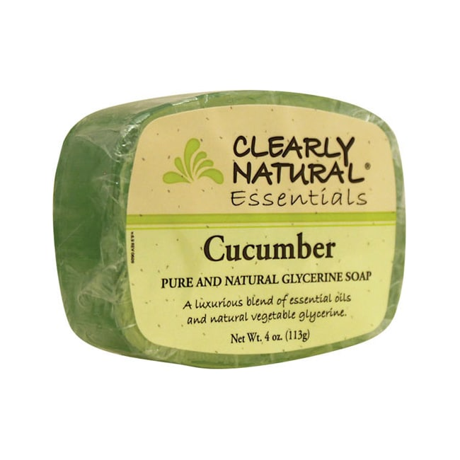 Clearly Natural Glycerine Bar Soap Cucumber