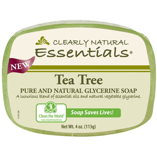 Clearly NaturalGlycerine Bar Soap Tea Tree