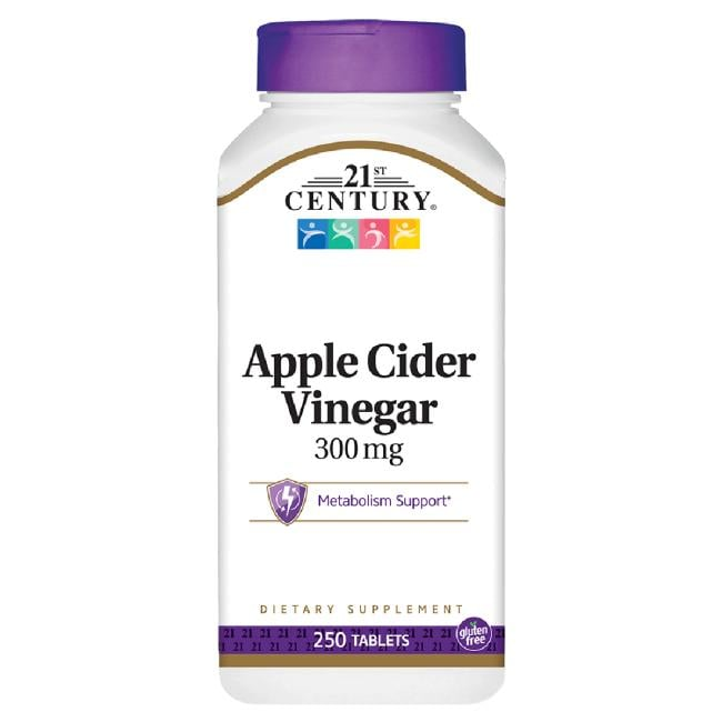 Good health from the orchard Promotes the metabolism of sugars and fats Assists the body in cleansing toxins 21st Century Apple Cider Vinegar 300 mg 250 Tabs Cleansing and Detoxification Sold by Swanson Vitamins