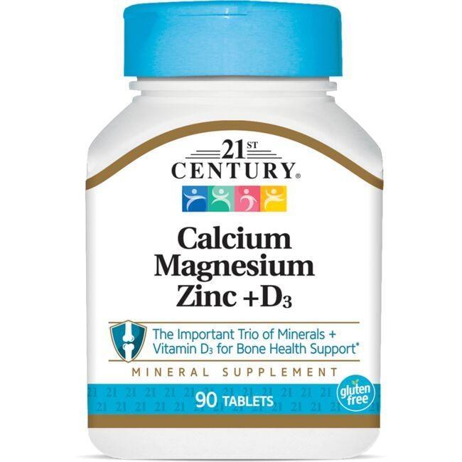 21st CenturyCalcium Magnesium Zinc + D3
