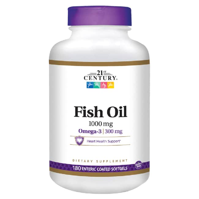 21st century enteric coated fish oil 1 000 mg 180 sgels for Fish oil 1000 mg