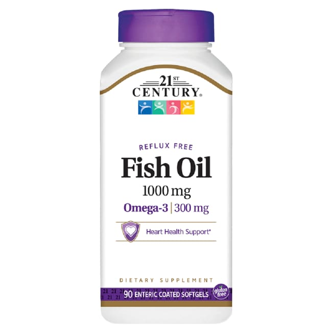 21st Century Enteric Coated Omega-3 Fish Oil