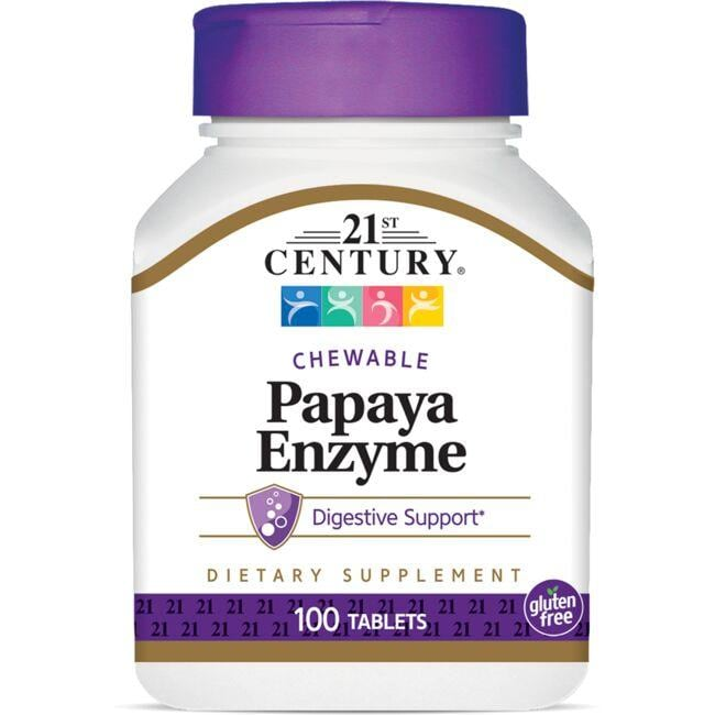 21st Century Chewable Papaya Enzyme