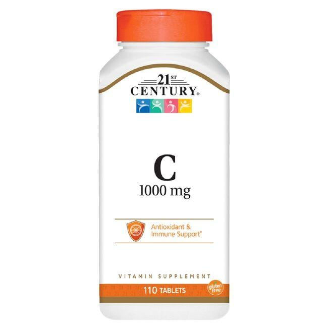 Helps neutralize free radicals and support a healthy immune system 110 full-serving tablets 1,000 mg vitamin C per serving 21st Century C 1,000 mg 110 Tabs Vitamin C Immune Support Sold by Swanson Vitamins