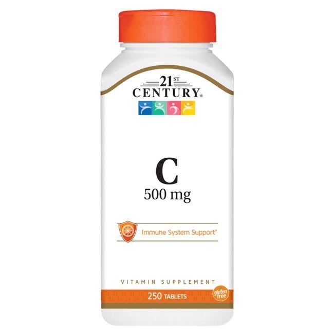 Helps neutralize free radicals and support a healthy immune system 500 mg of vitamin C plus 30 mg of calcium per serving 250 full-serving tablets 21st Century C 500 mg 250 Tabs Vitamin C Immune Support Sold by Swanson Vitamins