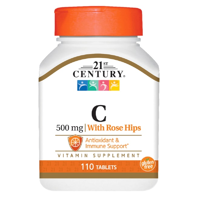 21st Century Natural Vitamin C 500 with Rose Hips