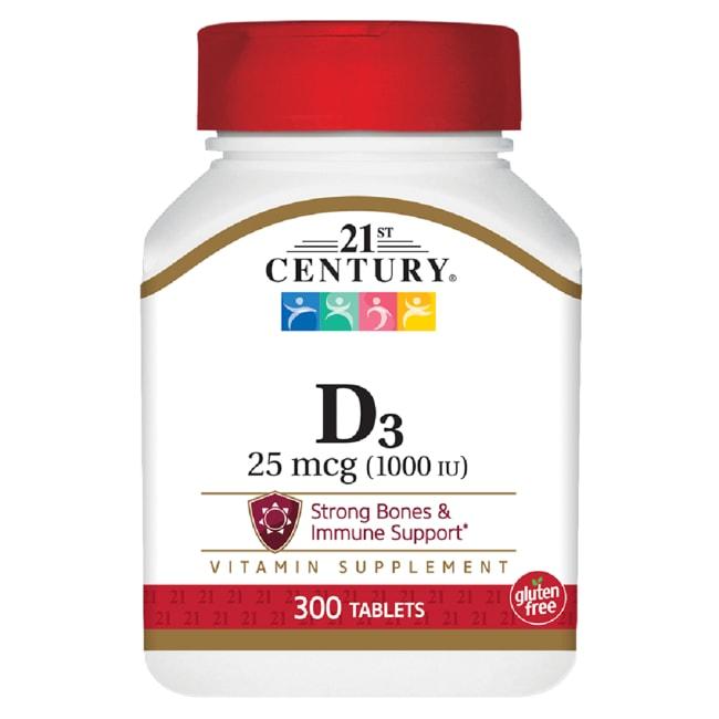 21st Century Vitamin D3 - 1000 IU - High Potency