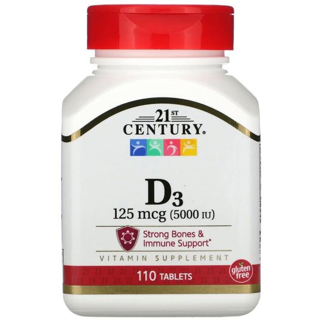 21st Century Vitamin D-5000 Super Strength