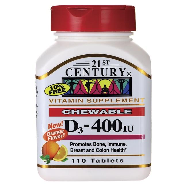 21st CenturyD3 Chewable - Orange Flavor