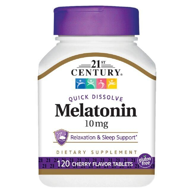 21st Century Quick Dissolve Melatonin - Cherry