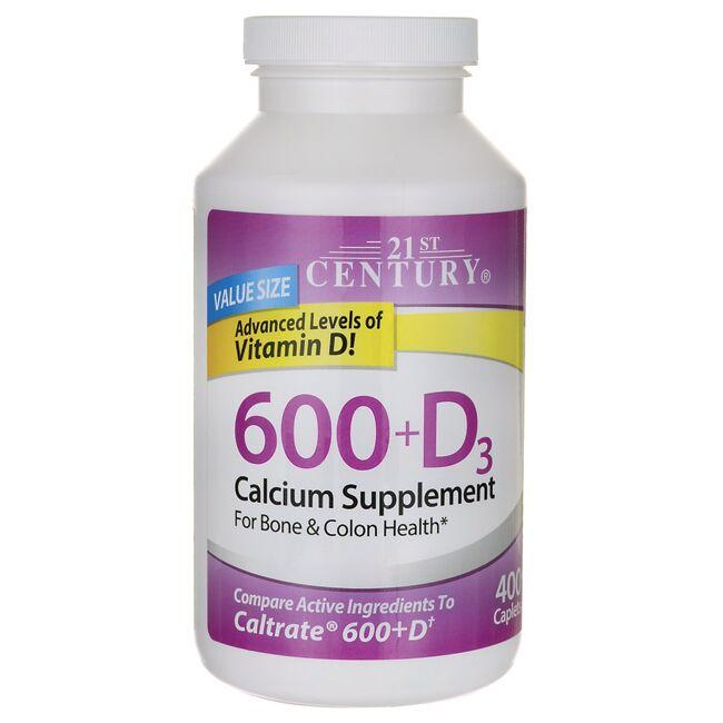 21st Century 600 + D3 Calcium Supplement