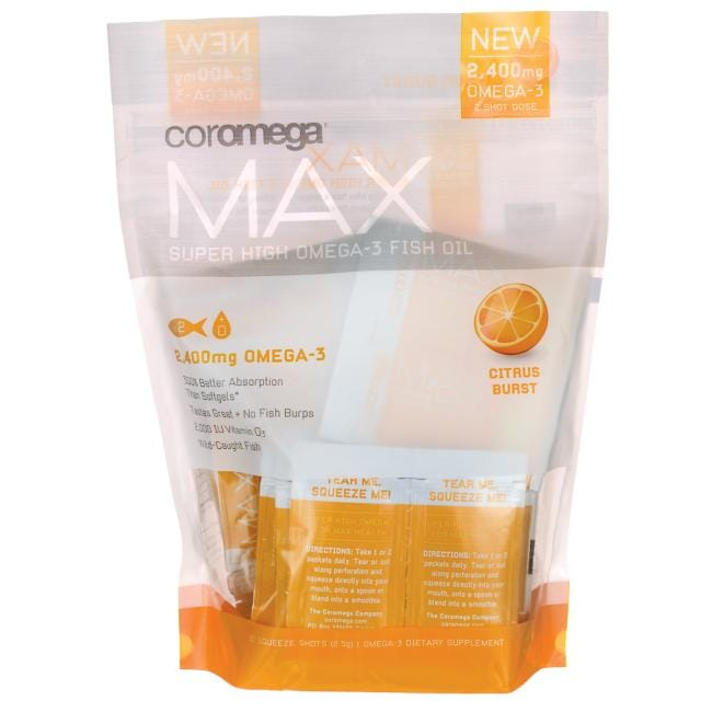 Coromega MAX Super High Omega-3 Fish Oil - Citrus Burst
