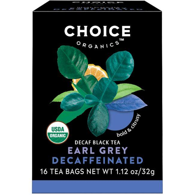 Choice Organic Teas Organic Decaffeinated Earl Grey - Black Tea