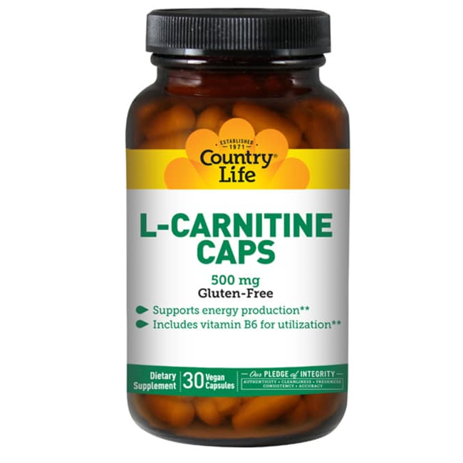 Country Life L-Carnitine Caps with B6