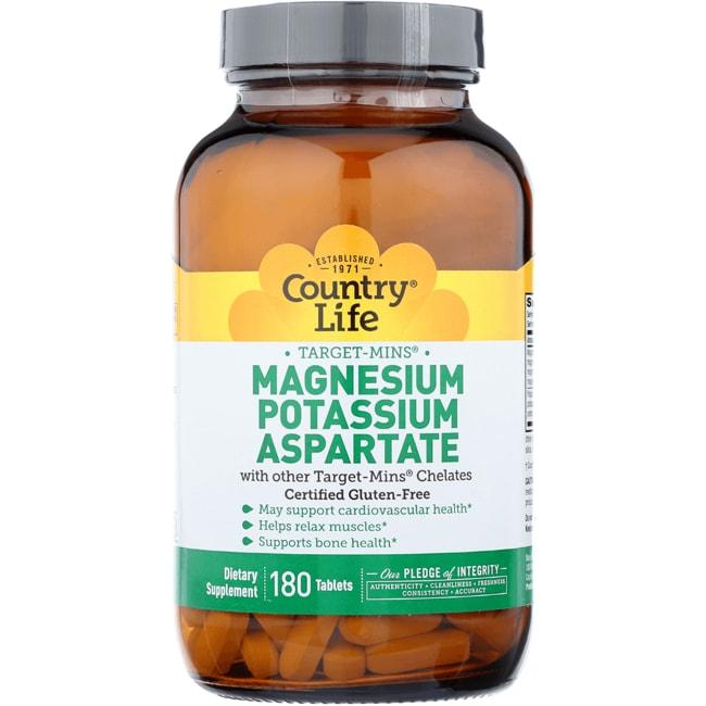 Country LifeTarget-Mins Magnesium Potassium Aspartate