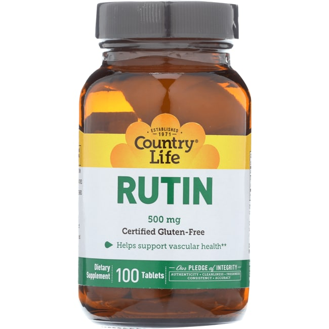 country life rutin 500 mg 100 tabs - swanson health products, Skeleton