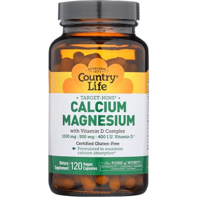 Country Life Target Mins Calcium Magnesium with Vitamin D Complex