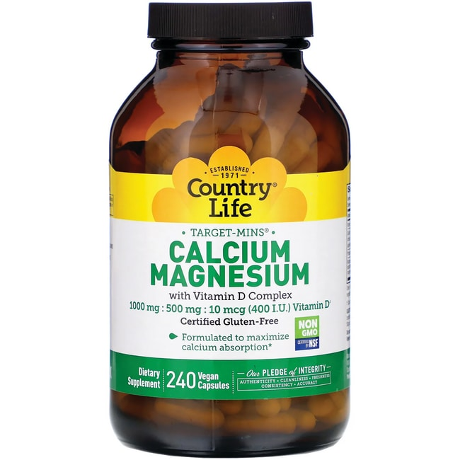 Country Life Target-Mins Calcium-Magnesium with Vitamin D