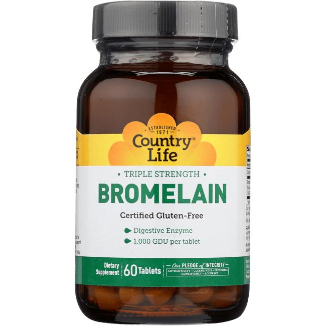 Country Life Triple Strength Bromelain