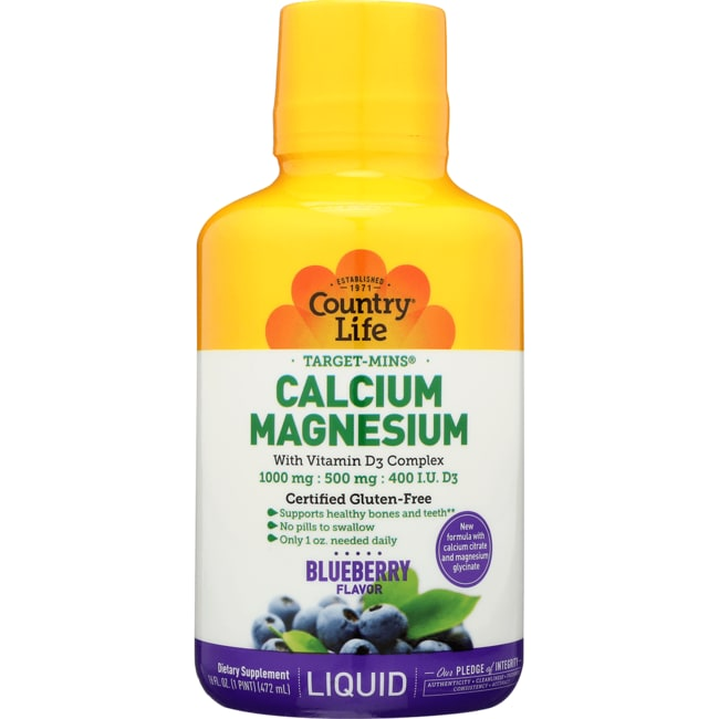 Country Life Liquid Calcium-Magnesium with Vitamin D3 - Blueberry