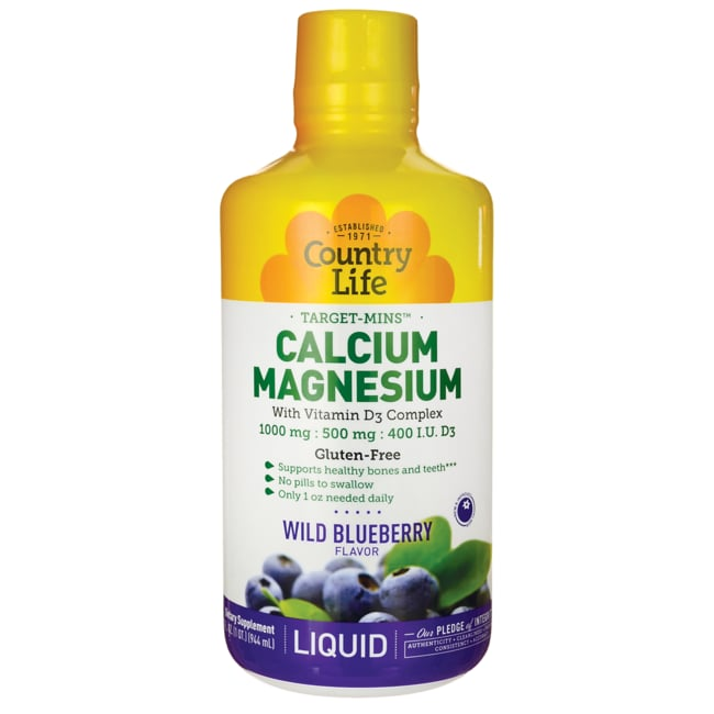 Country LifeLiquid Calcium Magnesium with Vitamin D3 - Wild Blueberry