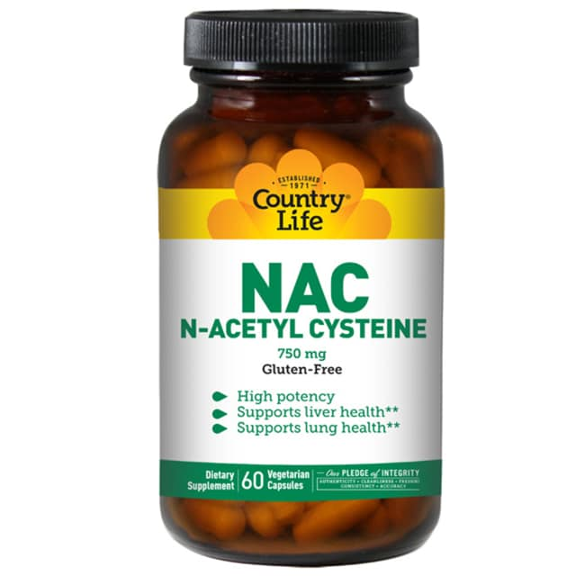 Country Life NAC N-Acetyl Cysteine