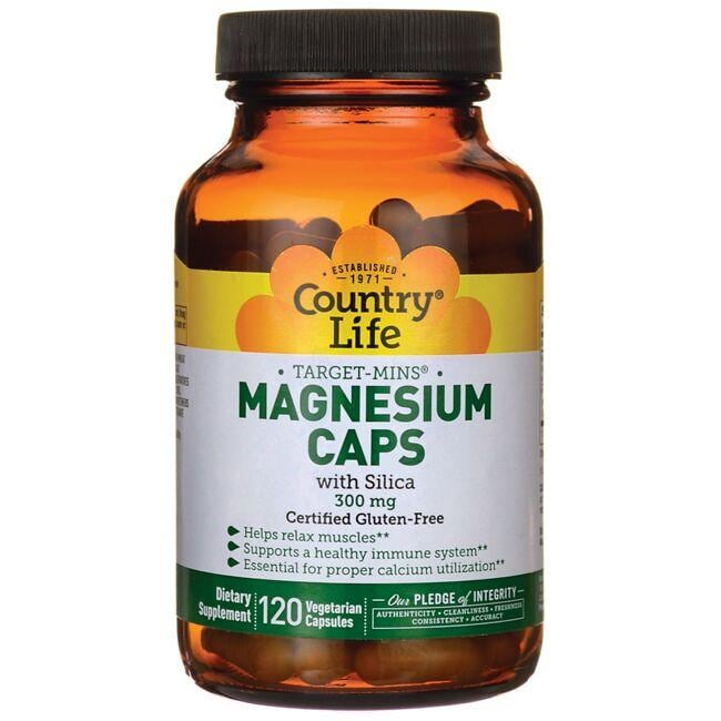 Country Life Target-Mins Magnesium Caps with Silica