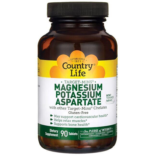 Country LifeTarget-Mins Magnesium-Potassium Aspartate