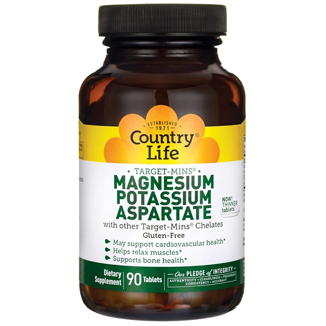 Country LifeTarget-Mins Magnesium-Potassium Aspartate
