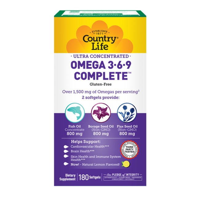 Country LifeUltra Concentrated Omega 3-6-9