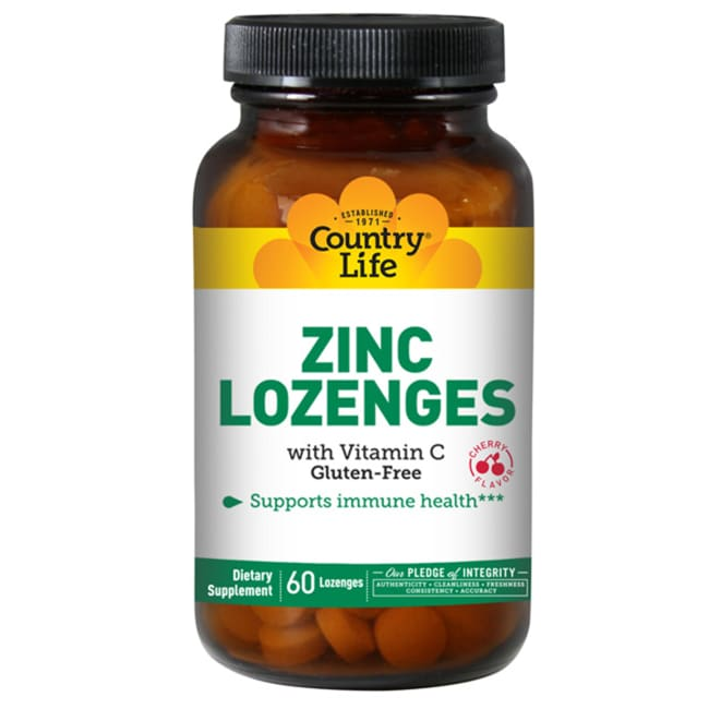 Country Life Zinc Lozenges - Cherry