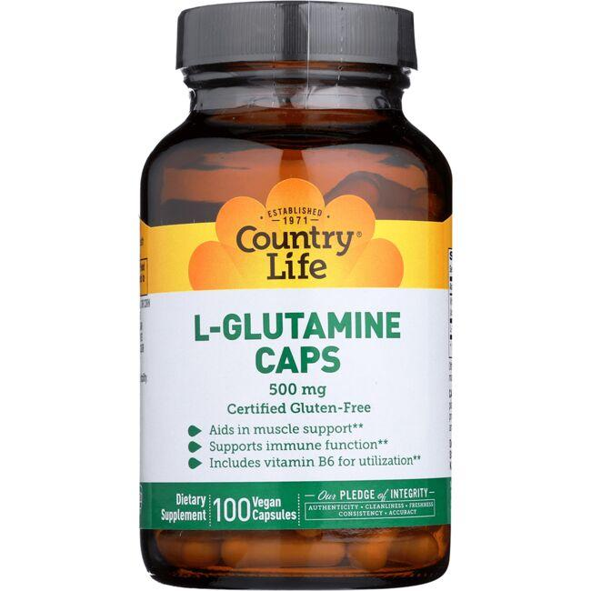 Country Life L-Glutamine Caps