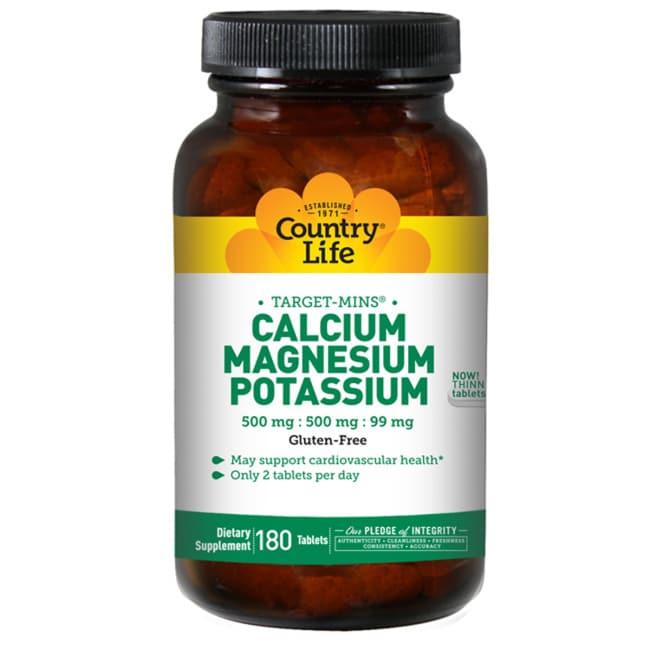 Country Life Target-Mins Calcium-Magnesium Potassium