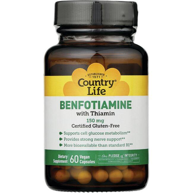 Country Life Benfotiamine with Thiamin