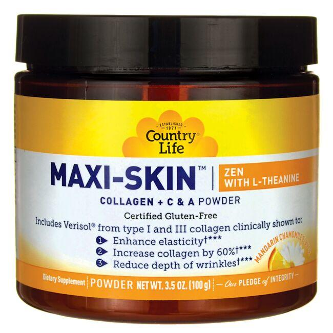 Country Life Maxi-Skin Zen with L-Theanine - Mandarin Chamomile