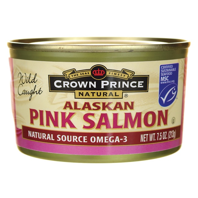 crown prince wild caught alaskan pink salmon 7 5 oz can swanson health products. Black Bedroom Furniture Sets. Home Design Ideas