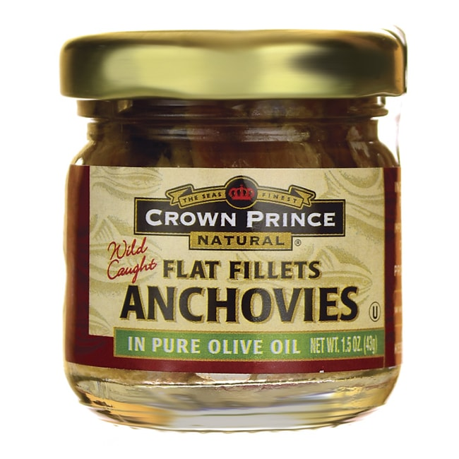 Crown PrinceWild Caught Anchovies Flat Fillets in Pure Olive Oil
