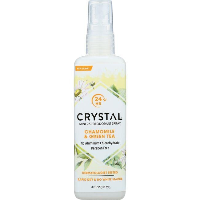 Crystal Body Deodorant Spray Chamomile & Green Tea