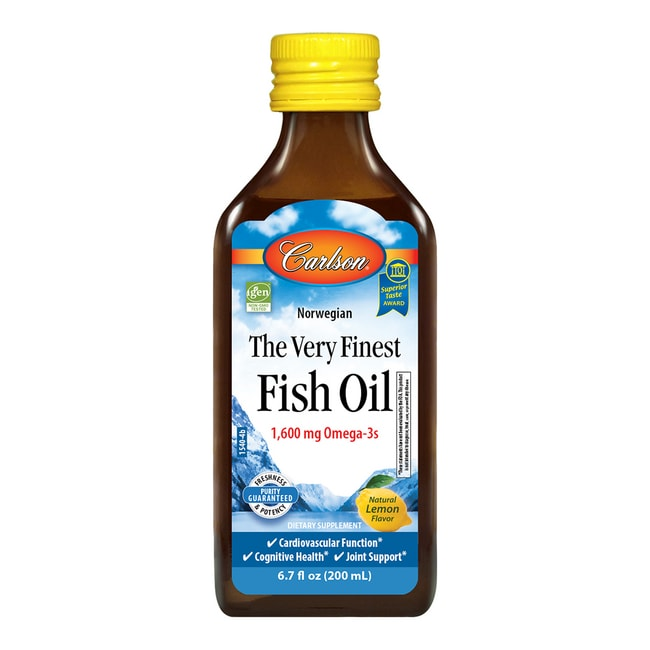 Carlson The Very Finest Fish Oil Omega 3 Lemon 6 7 Oz 200