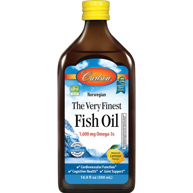 Carlson The Very Finest Fish Oil Omega-3 Lemon