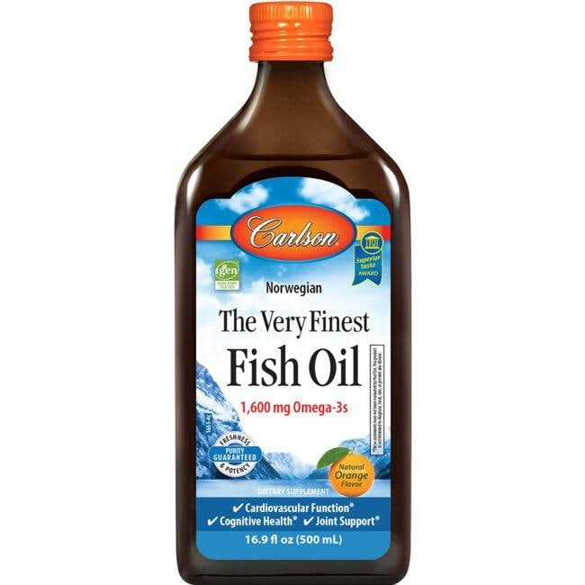 Carlson The Very Finest Fish Oil Orange 1 600 Mg 16 9 Fl