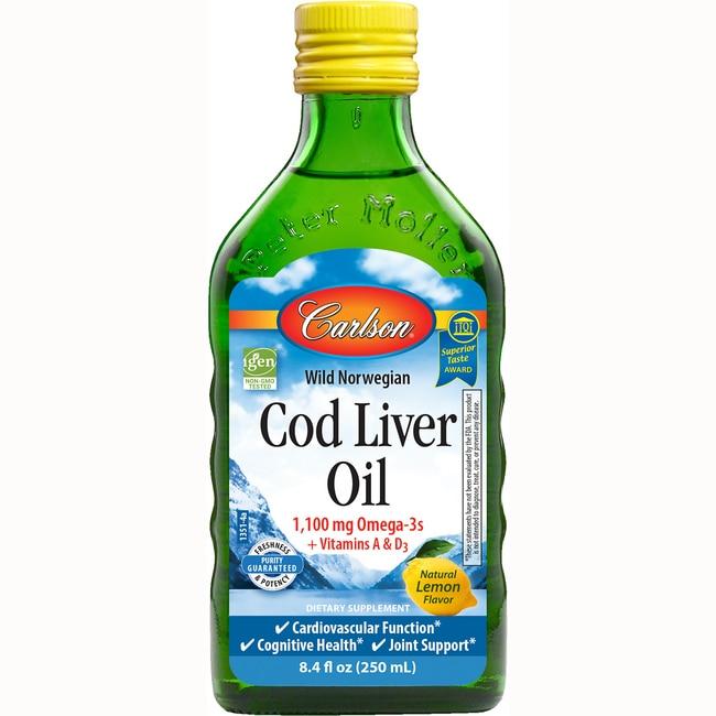 CarlsonWild Norwegian Cod Liver Oil - Lemon Flavor