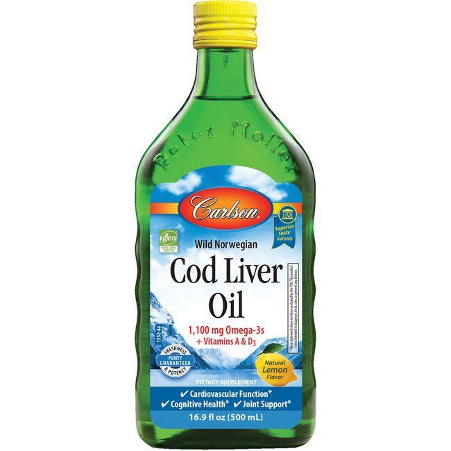 CarlsonWild Norwegian Cod Liver Oil - Lemon