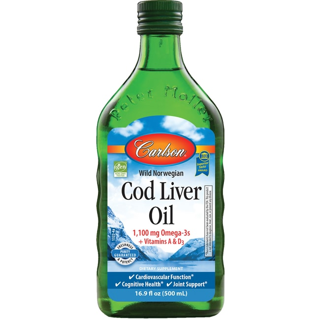 Carlson norwegian cod liver oil unflavored 16 9 oz 500 for Carlson norwegian fish oil