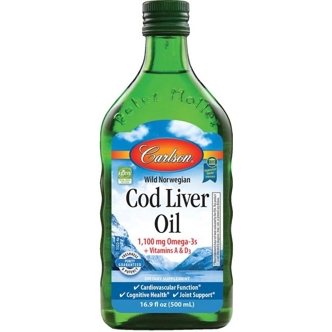 Carlson norwegian cod liver oil unflavored 16 9 fl oz for Carlson fish oil amazon