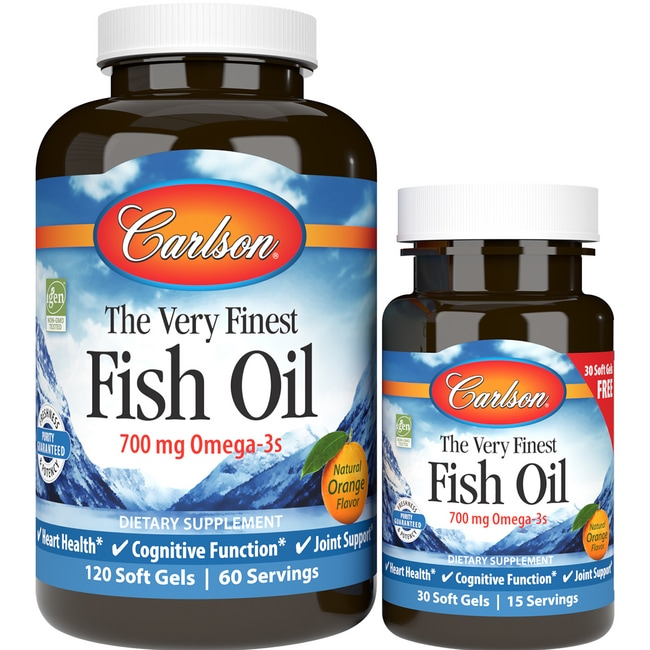 Carlson The Very Finest Fish Oil 120 30 Free Sgels