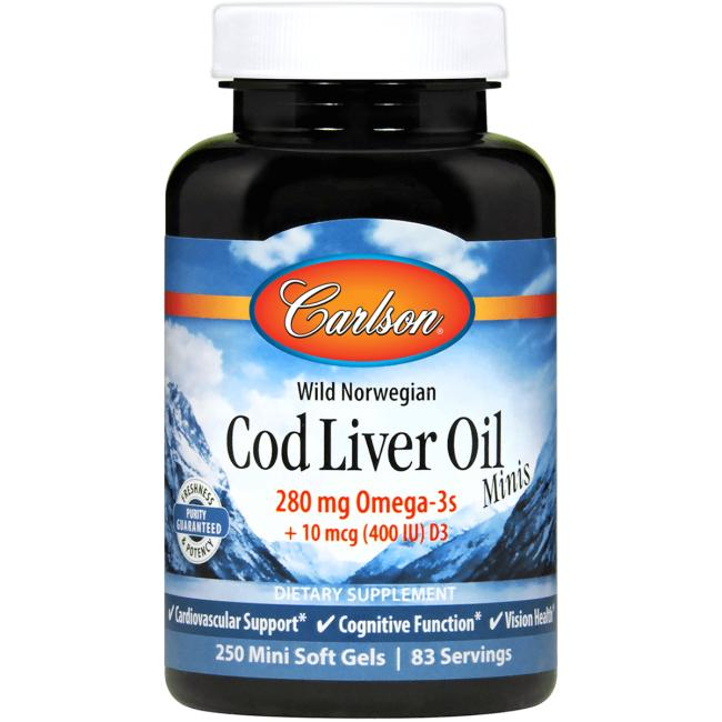 CarlsonWild Norwegian Cod Liver Oil Minis