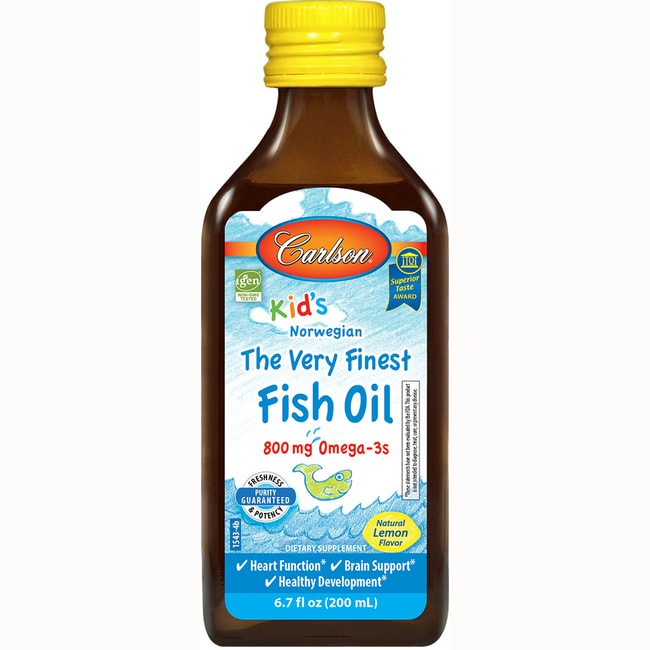 Carlson kid 39 s the very finest norwegian fish oil lemon 6 for Carlson norwegian fish oil